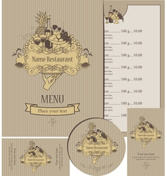 menu expensive vector image vector image