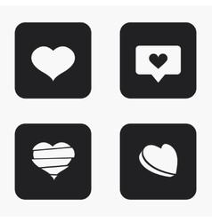 Modern heart icons set vector