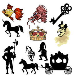 Motive of fairy tale vector