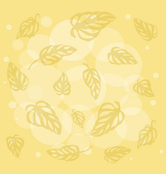 Pattern of colorful leaves monstera on background vector