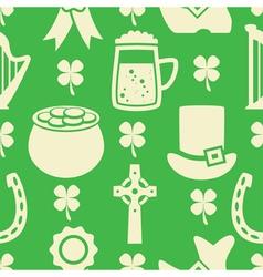 pattern of irish St Patricks Day vector image