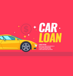 Poster loan car in cartoon vector