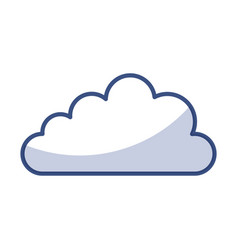 shadow cloud cartoon vector image