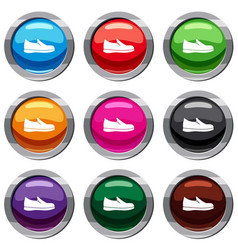 shoes set 9 collection vector image vector image