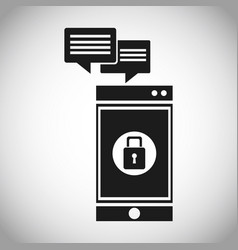 smartphone security message system vector image