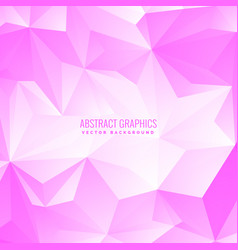 Soft pink color low poly abstract background vector