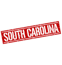 South carolina red square stamp vector