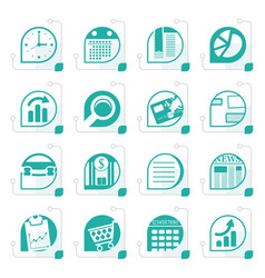 Stylized business and office internet icons vector