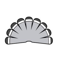 Turkey tail icon vector
