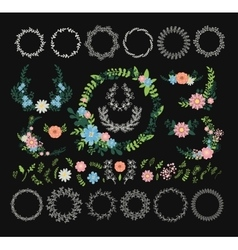 Floral wreath decoration vector