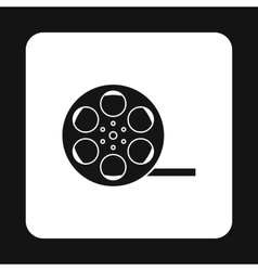 Film reel icon in simple style vector image