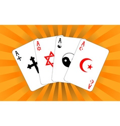 Four religious aces vector