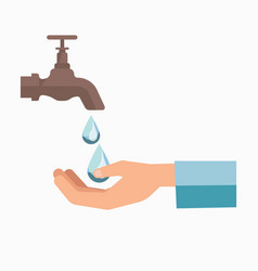 Charity symbol of water scarcity for people vector