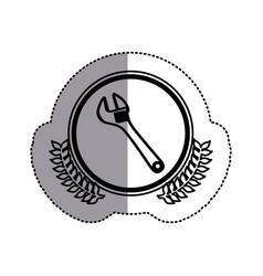 contour symbol monkey wrench icon vector image