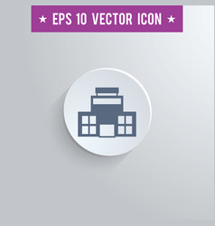 Office building symbol icon on gray background vector