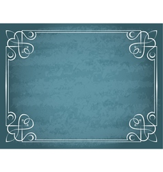 vintage frame on a blue background vector image