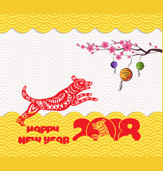 2018 chinese new year greeting card with vector