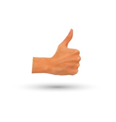 Photorealistic thumb-up hand isolated vector