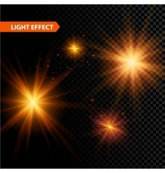 Set of glowing light effect stars bursts with vector