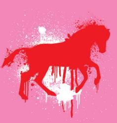 stencil horse vector image