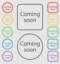 Coming soon sign icon promotion announcement vector