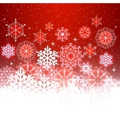 Red christmas background with space for text vector