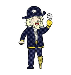 Comic cartoon pirate captain vector