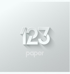 number one 1 two 2 three 3 logo paper set vector image