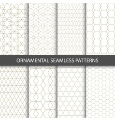 Collection of seamless ornametal patterns vector