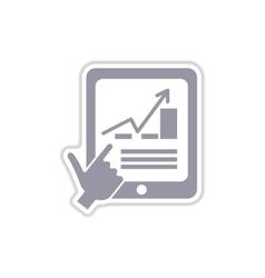 Paper sticker on white background economic vector