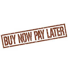 Buy now pay later stamp vector