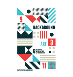 Abstract minimal poster vector