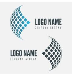 Abstract web icon globe abstract logo vector