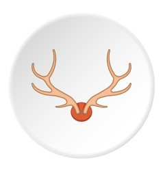Antlers icon cartoon style vector