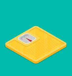 bathroom scale flat design icon vector image vector image