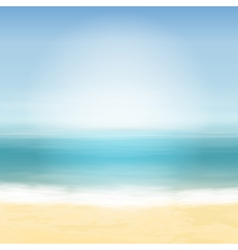 Beach and blue sea vector image vector image