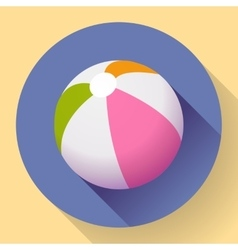 Beach ball icon modern flat style with a long vector
