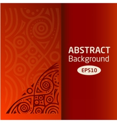 brown abstract African background pattern vector image