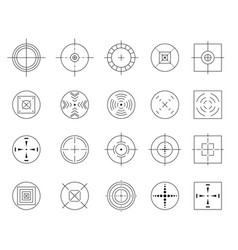 collection of flat simple targets isolated vector image vector image