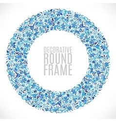 Colorful Floral wreath Background vector image vector image
