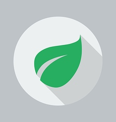 Eco flat icon leaf vector