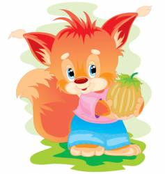 fox nut vector image