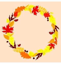 Frame with autumn falling leaves vector image