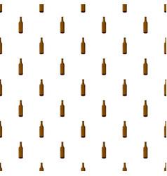 Full brown beer bottle pattern vector