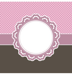 girly frame vector image vector image