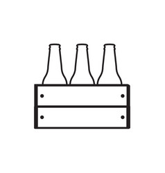 group of beer bottles vector image
