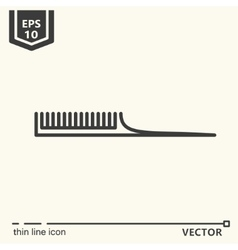 Hairdressing tools Icons series Comb vector image vector image