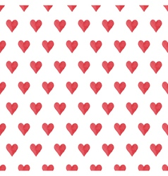 heart seamless pattern vector image vector image