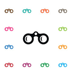 isolated optical icon lens element can be vector image vector image