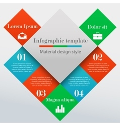 Modern infographic square template vector image